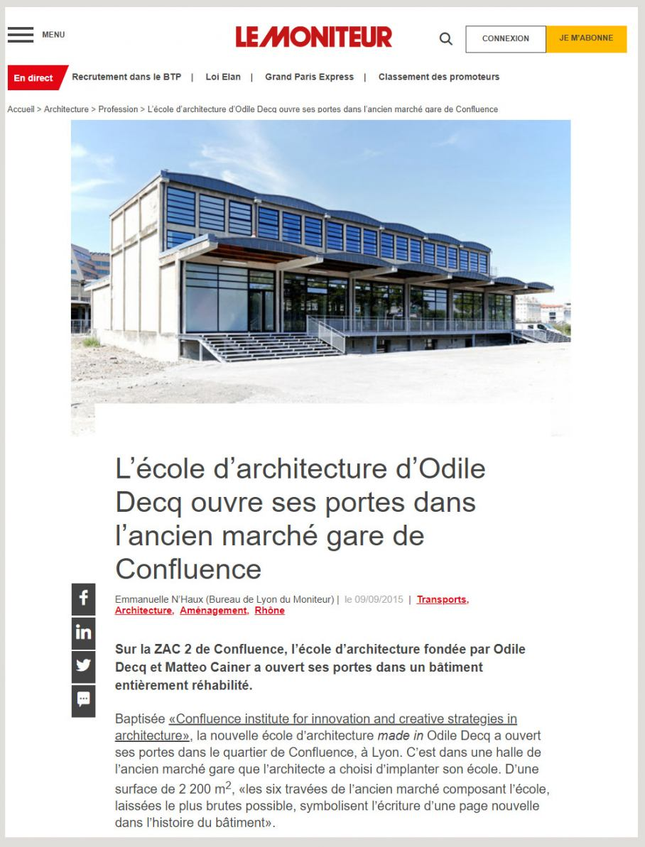 MCA Online articles Le Moniteur