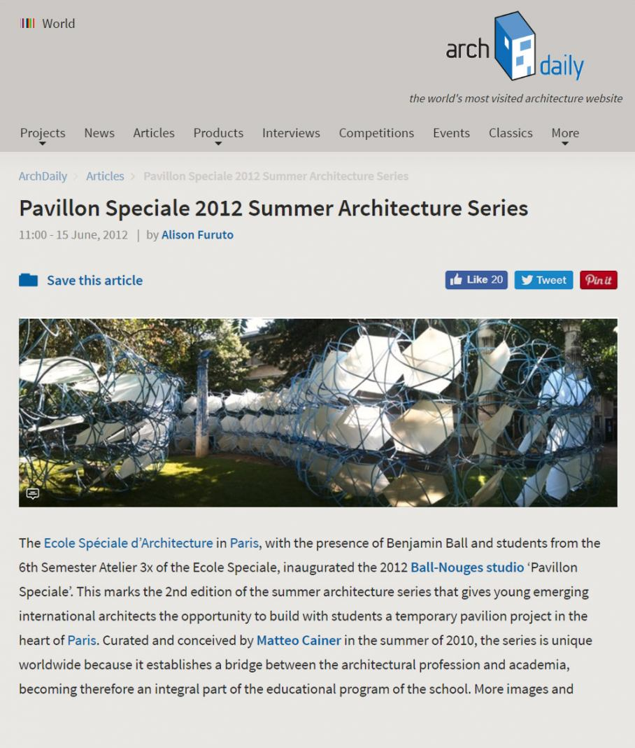 MCA Online articles Pavillon Speciale